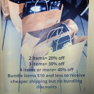 $10 and under FIRM but $11 and up= bundle savings!